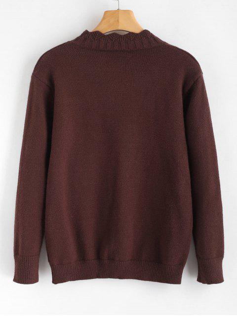 online Bee Graphic Knitwear - COFFEE ONE SIZE Mobile