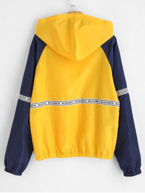 Sudadera con capucha y cremallera - Amarillo L Mobile