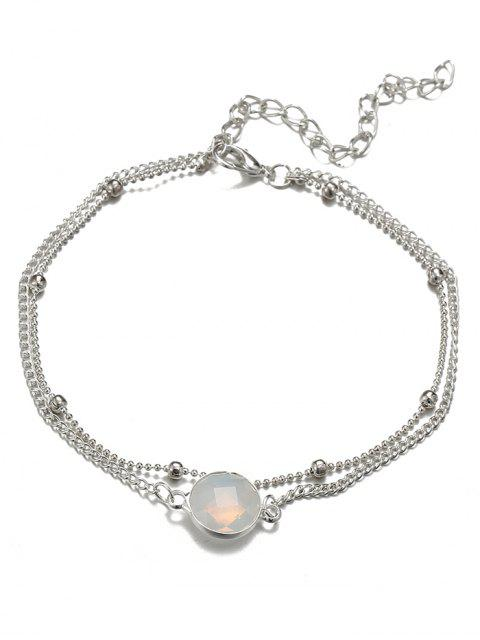 best Stylish Faux Gem Beach Chain Ankle - SILVER  Mobile