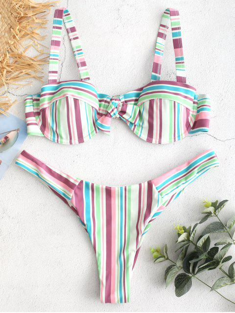 ZAFUL Ensemble de Bikini Rayé Coloré à Armature - Multi M Mobile