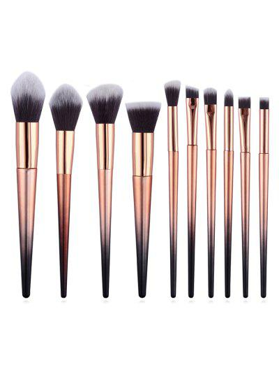 Image of 10Pcs Two Tone Handles Synthetic Fiber Hair Travel Makeup Brush Set