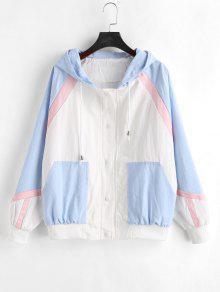 كتلة الألوان Tricolor Twill Jacket - متعدد M