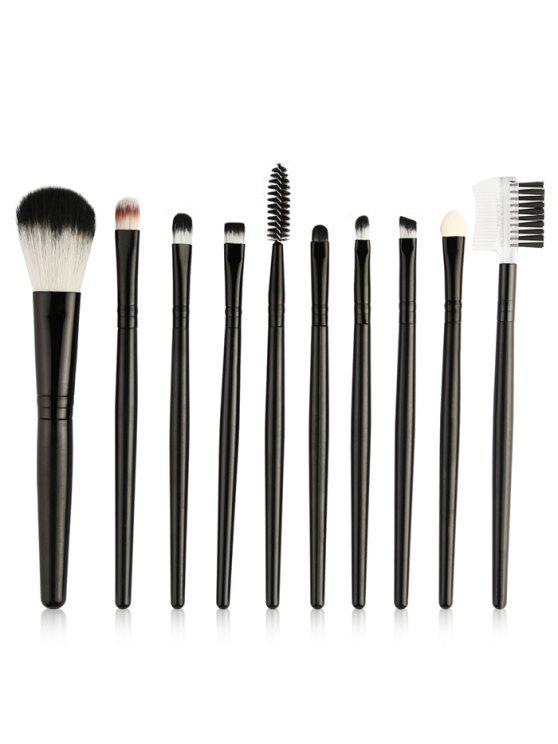 best Beauty 10Pcs Ultra Soft Eyeshadow Eyebrow Blending Makeup Brush Set - BLACK