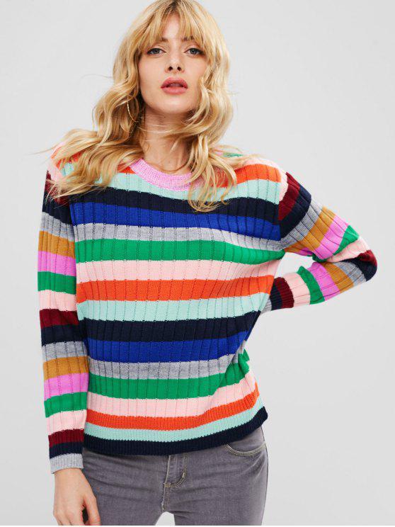 taglia 40 e16cd bcfd2 Maglione Pullover A Righe Colorate MULTI-A MULTI-B