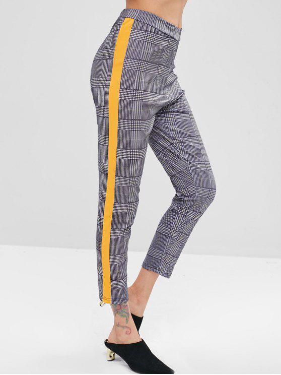 Lateral Cuadros Franja Pantalones A Con DIWHE29