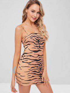 Tiger Stripe Cami Dress - Orange Gold L