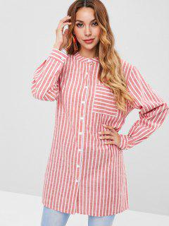 Striped Boyfriend Style Shirt - Multi S