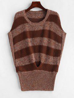 Batwing Stripes Vest Sweater - Multi-b