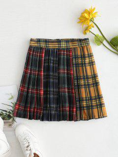 Pleated Tartan Mini Skater Skirt - Multi Xs