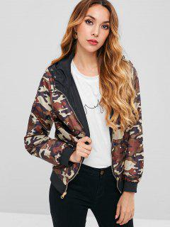 Camouflage Reversible Hooded Jacket - Multi L