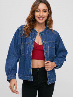 Denim Jacket With Pockets - Blue S
