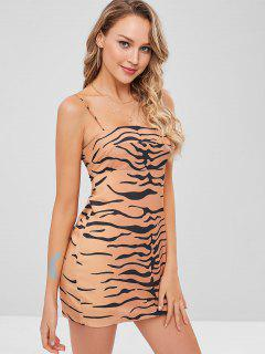 Tiger Stripe Cami Dress - Orange Gold M