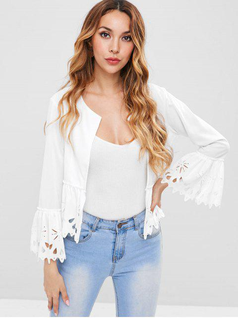 online Laser Cut Jacket - WHITE M Mobile