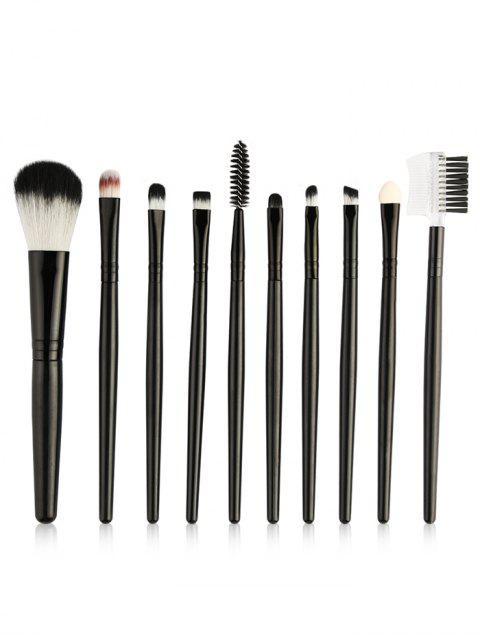 best Beauty 10Pcs Ultra Soft Eyeshadow Eyebrow Blending Makeup Brush Set - BLACK  Mobile