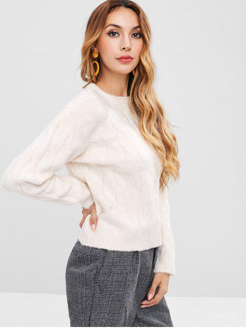 shops Cable Knit Sweater - BEIGE ONE SIZE Mobile