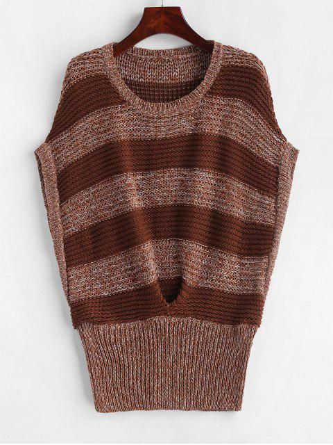 best Batwing Stripes Vest Sweater - MULTI-B ONE SIZE Mobile