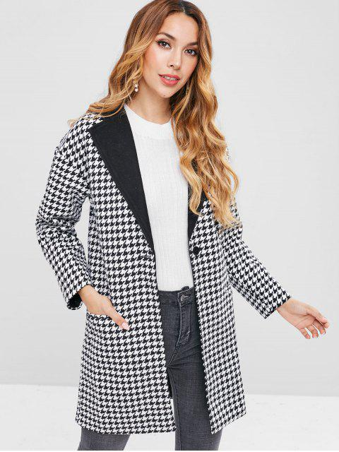 Revers Houndstooth One Button Mantel - Schwarz S Mobile