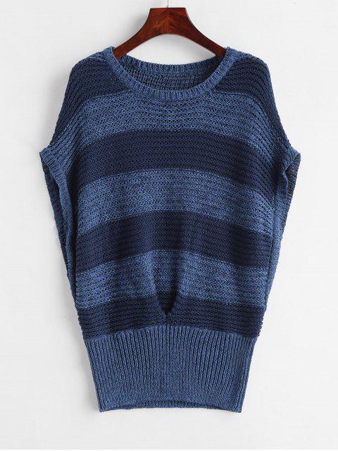 Fledermausstreifen Weste Pullover - Multi-C Eine Größe Mobile