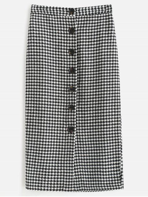 Houndstooth Tweed Midirock - Multi S Mobile