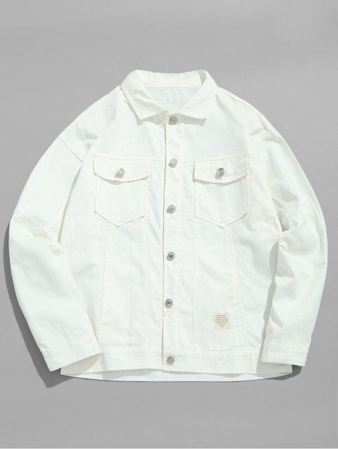 Solide dünne Jeansjacke - Weiß L Mobile