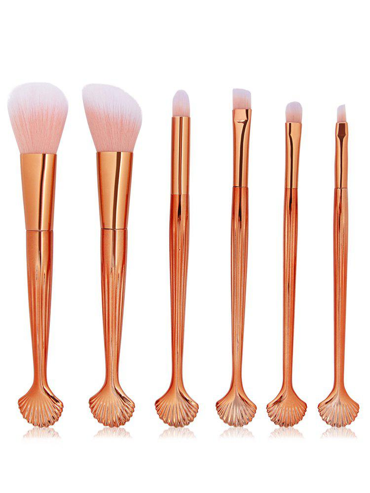 Cosmetic Shell Shaped Blush Eyeshadow Eyebrow Travel Makeup Brush Set
