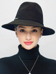 خمر واسعة بريم فيدورا جاز قبعة - أسود