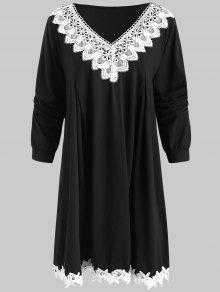 فستان كروشية تريم بلس زوزي تونك - أسود 4x