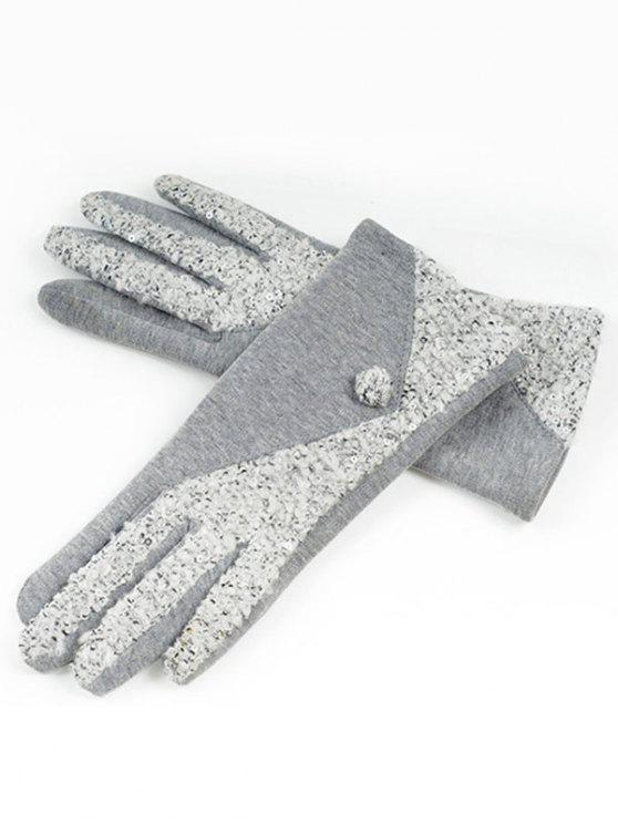 Gants de couleur Full Winter Color Block - Nuage Gris