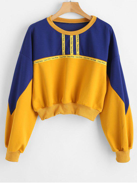 Sweatshirt graphique à blocs de couleurs lâches - Multi M