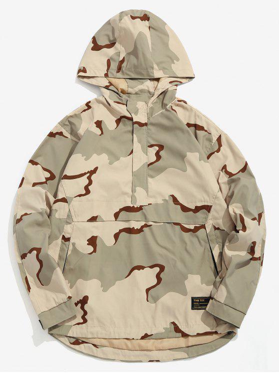 Felpa Con Cappuccio Di Camo A Mezza Cerniera - ACU Camouflage XL