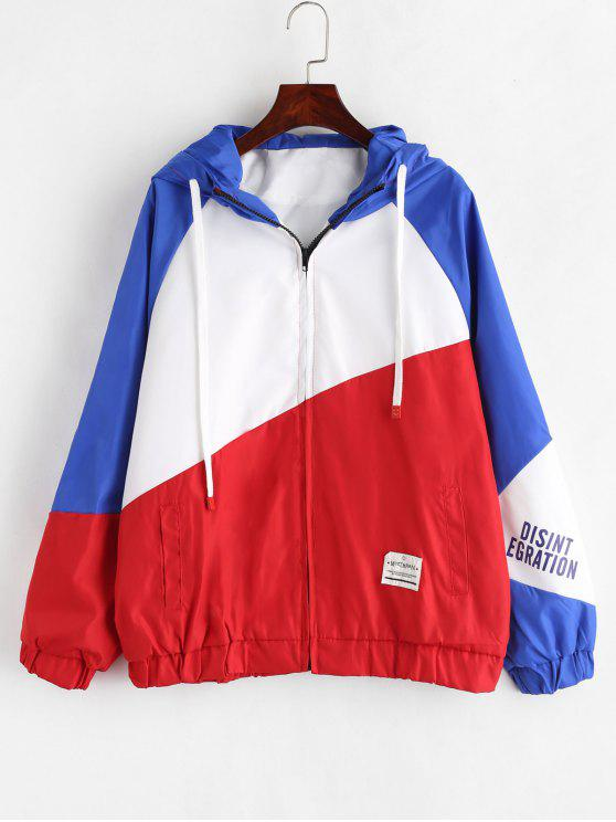 shops Patchwork Graphic Hooded Jacket - MULTI-A L