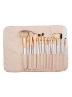 Portable 12 Pcs Ultra Soft Travel Makeup Brush Set With Brush Bag - Multi