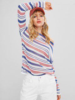 Suéter De Rayas De Punto Jersey - Multicolor