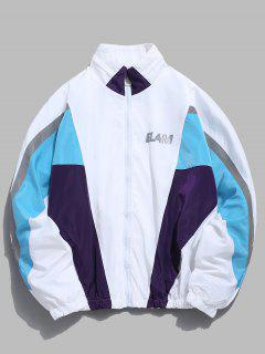 Contrast Full Zip Reflective Jacket - White S