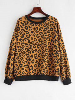 Leopard Drop Shoulder Sweatshirt - Leopard