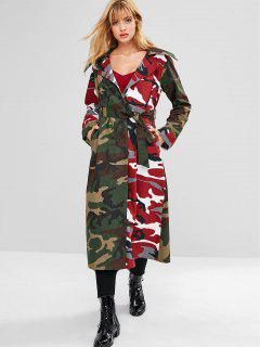 Manteau Trench Camouflage - Multi-b L