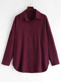 Tee-shirt Long à épaules Dénudées - Marron
