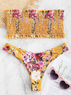 ZAFUL - Bandeau-Bikini-Set Mit Blumenmotiv - Biene Gelb L