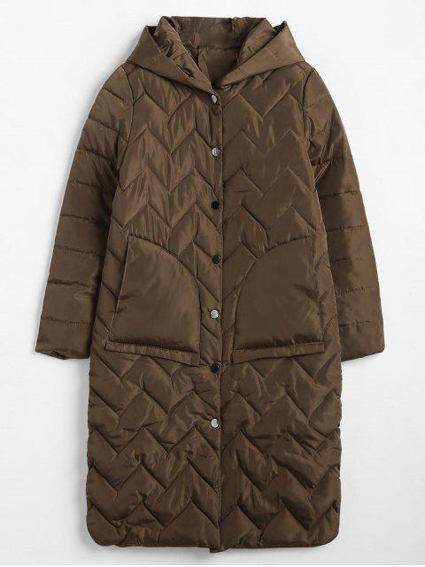 Abrigo de invierno con capucha acolchado - Café M Mobile
