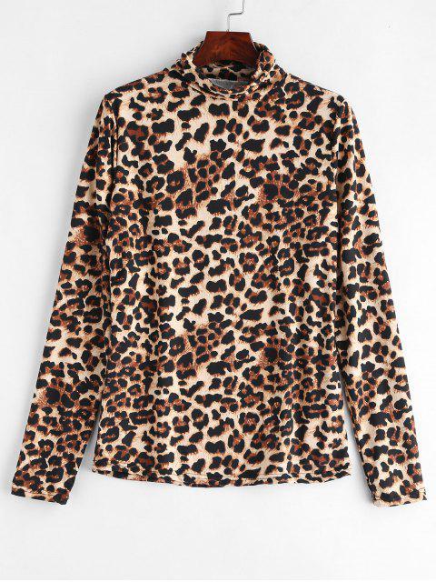 Top de leopardo con cuello alto - Leopardo L Mobile