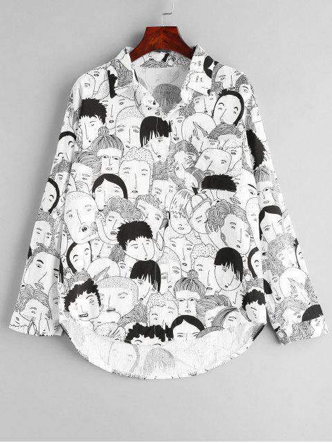 Camisa de bolsillo con hombros descubiertos - Blanco Talla única Mobile