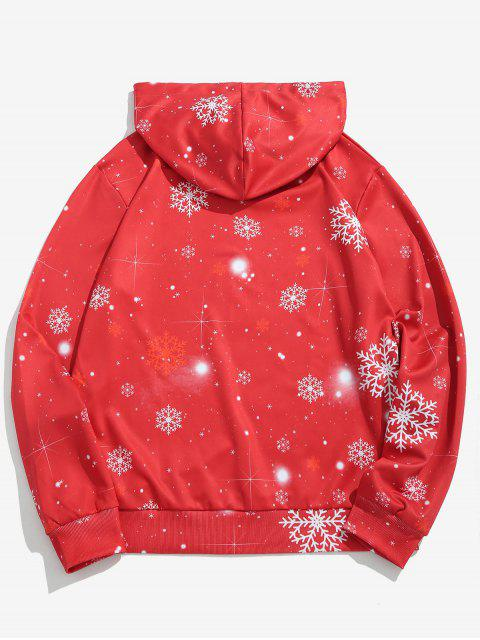 ZAFUL Sweat à Capuche Père Noël Imprimé - Rouge Lave 2XL Mobile