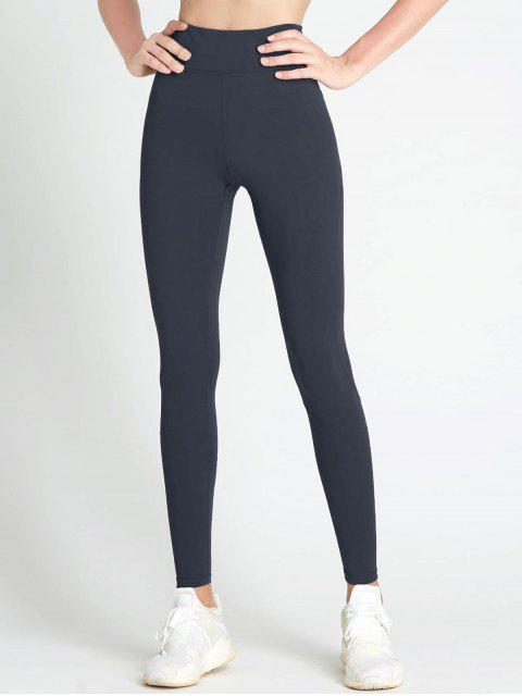 ZAFUL Stretch Knit Active Leggings - Gris Pizarra Oscuro M Mobile