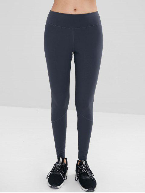 ZAFUL Stretch Knit Active Leggings - Gris Pizarra Oscuro S Mobile