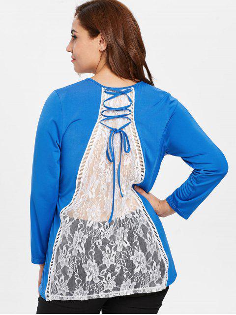 affordable Plus Size Santa Claus Christmas T-shirt - DODGER BLUE 4X Mobile