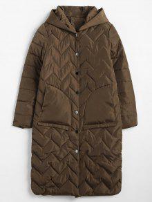 مبطن معطف الشتاء المنتفخ البخاخ - قهوة M