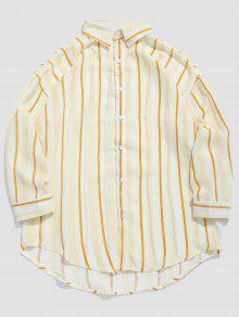 قميص مخطط مطبوع - نحلة صفراء M
