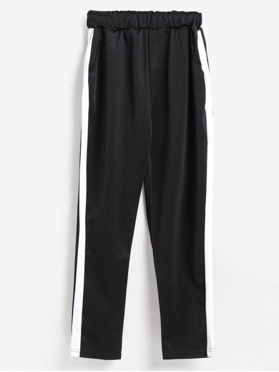 Pants Pull On XLZAFUL 33OFF2018 Stripe Jogging Side En Negro yvN0m8nwO