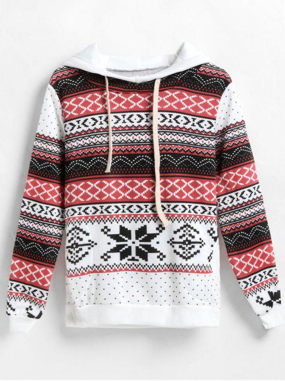 unique Lightweight Printed Christmas Pullover Hoodie - MULTI M