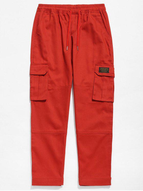 Pantaloni In Tinta Unita - Rosso Mollissima 2XL